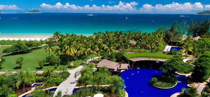 三亚亚龙湾红树林度假酒店鸟瞰图