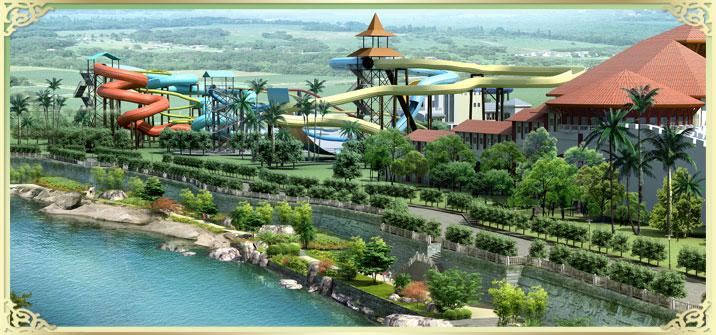 桂林市玉圭园房地产有限公司水上乐园鸟瞰图