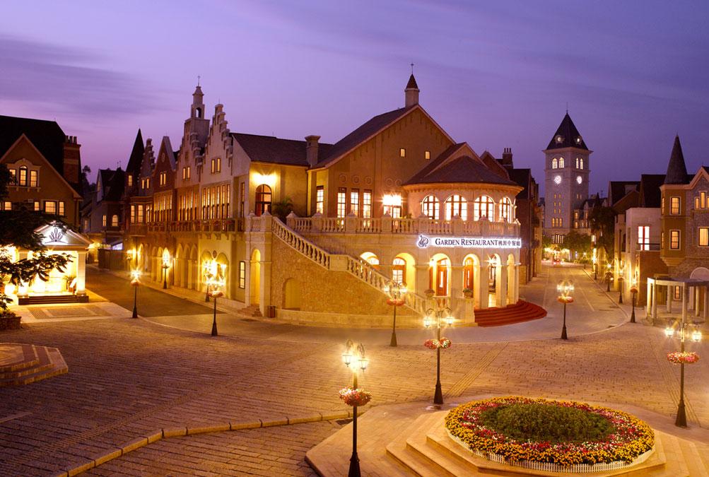广州九龙湖公主酒店夜景