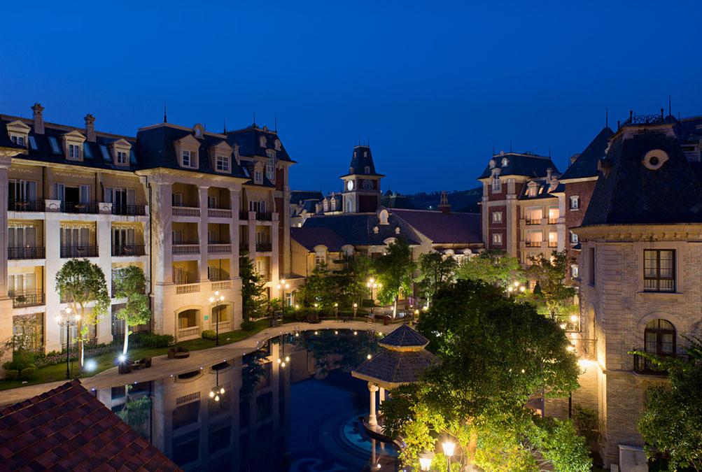 广州九龙湖公主酒店美丽夜景
