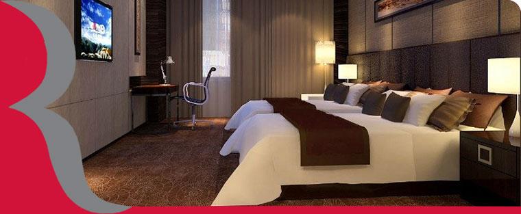 西安曲江华美达广场酒店标准客房卧室