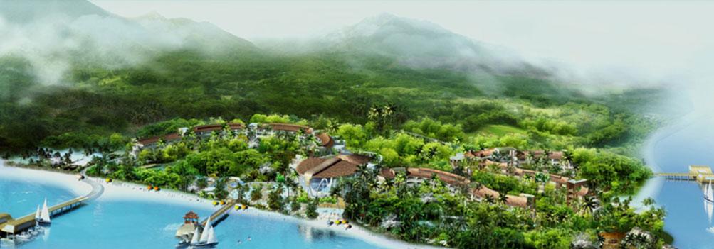三亚蜈支洲岛珊瑚酒店管理有限公司鸟瞰效果图