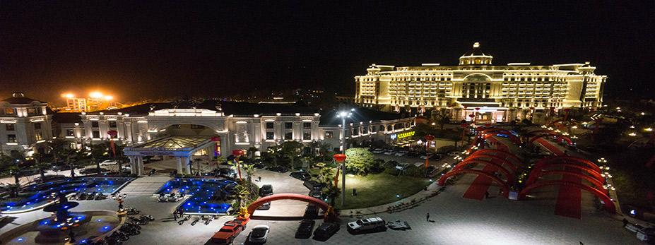仙华国际会议中心温泉乐园夜景