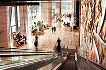 上海浦东丽思卡尔顿酒店入境大厅